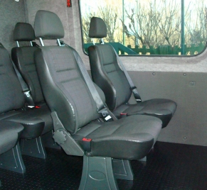 Zabudowa 7 osobowa - fotele rozkladane